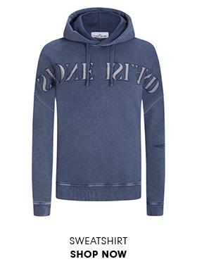 Sweatshirt in Blau