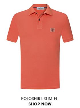 Poloshirt Slim Fit in Orange