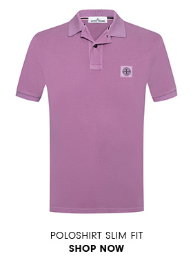 Poloshirt Slim Fit in Violett